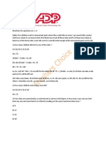 ADP Placement Paper | Freshers Choice