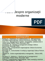 Teorii Despre organizatii moderne