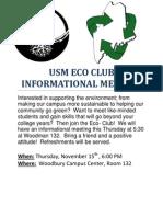 Eco Club Flyer