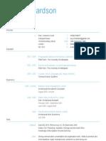 Sample of a good design CV