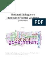 National Dialogue on Improving Federal Websites