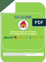 Cuadernillo estructura de frases UD la casa