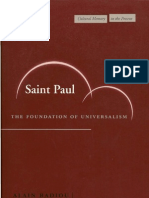 St Paul - The Foundation of Universalism (1)