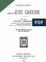 AMBROSOLI Solone, RICCI Serafino - Monete Greche