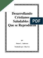 Libro Desarrollando Cristianos Saludables y Que Se Reproducen