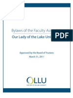 Bylaws of Faculty Assembly