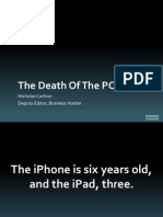 why 2013 will be the end of the PC Era
