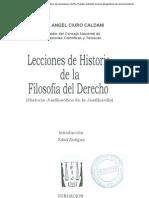 Lecciones de Historia  de la Filosofía del Derecho