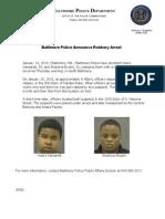 Baltimore Police Press Release