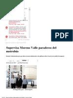10-01-13 Sexenio Puebla - Supervisa Moreno Valle paraderos del metrobús