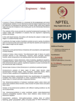 CURSO NPTEL - Applied Elasticity for Engineers