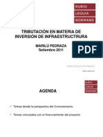 tributacion en materia de proyectos de infraestructura