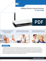 TP-Link Wireless Extender Bridge N 150Mbps TL-WA730RE Manual
