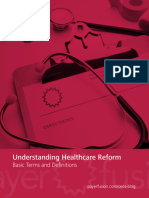 Understanding Healthcare Reform - Basic Terms & Definitions
