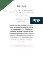 Uniform Commercial Code (UCC 1-308.4)