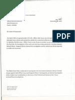 Richard Linthicum discipline letter