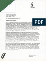 Mike Boland discipline letter