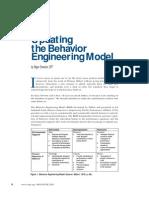 Updating the Behavior Engineering Model