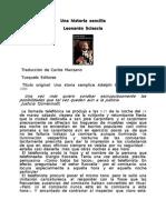 Sciascia Leonardo - Una Historia Sencilla