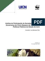 Analise Participacao Da Sociedade Civil Em Espacos de Politicas Publicas No Acre v3 15abr08 Luis Meneses