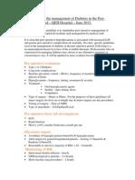 Diabetes in the Peri-operative Period
