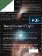 Transmissions of Light Liner Notes
