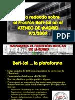 Mesa redonda en el Ateneo de Madrid. 09/02/2009