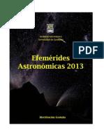 Calendario de efemérides astronómicas 2013