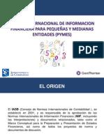 NORMA INTERNACIONAL DE INFORMACION FINANCIERA PARA PEQUEÑAS Y MEDIANAS ENTIDADES (PYMES)