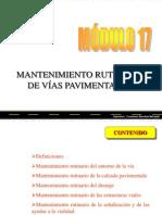 MANTENIMIENTO DE PAVIMENTOS