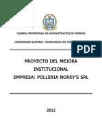 Proyecto de Mejora Institucional -Untecs