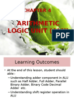 EC303 - CHAPTER 4 ARITHMETIC LOGIC UNIT ALU