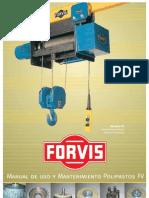 Manual mantenimiento Polipasto FORVIS