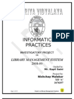 Project Report-Library Management System