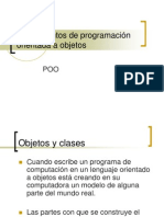 Fundamentos de la Programación Orientada a Objetos.