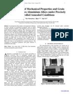Investigation of Mechanical Echanical Properties and Grain Rain Structure of 5xxx Aluminium