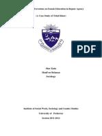 Sher Zada Research Study