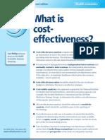 Cost Effectiveness