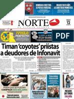 Periodico Norte de Ciudad Juárez 12 de Enero de 2013