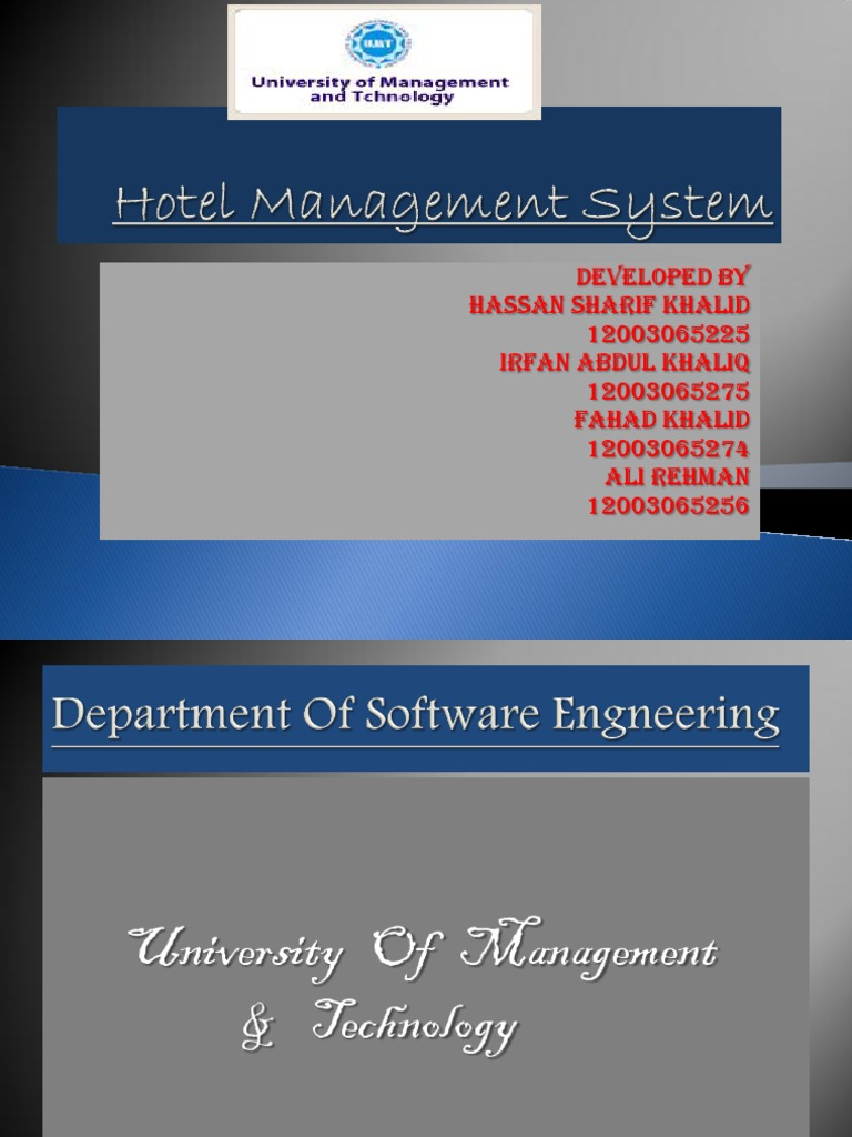 Thesis on hotel management system
