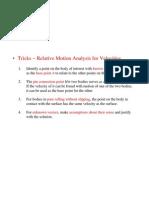 Tricks_Relative Motion Analysis for Veloci