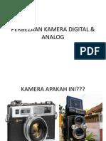 Perbezaan Kamera Analog Dan Digital