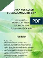 Penilaian Kurikulum Berasaskan Model Cipp