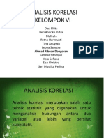 Contoh Analisis Korelasi Pearson