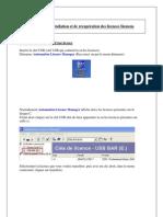 Installation et récupération license Siemens S7