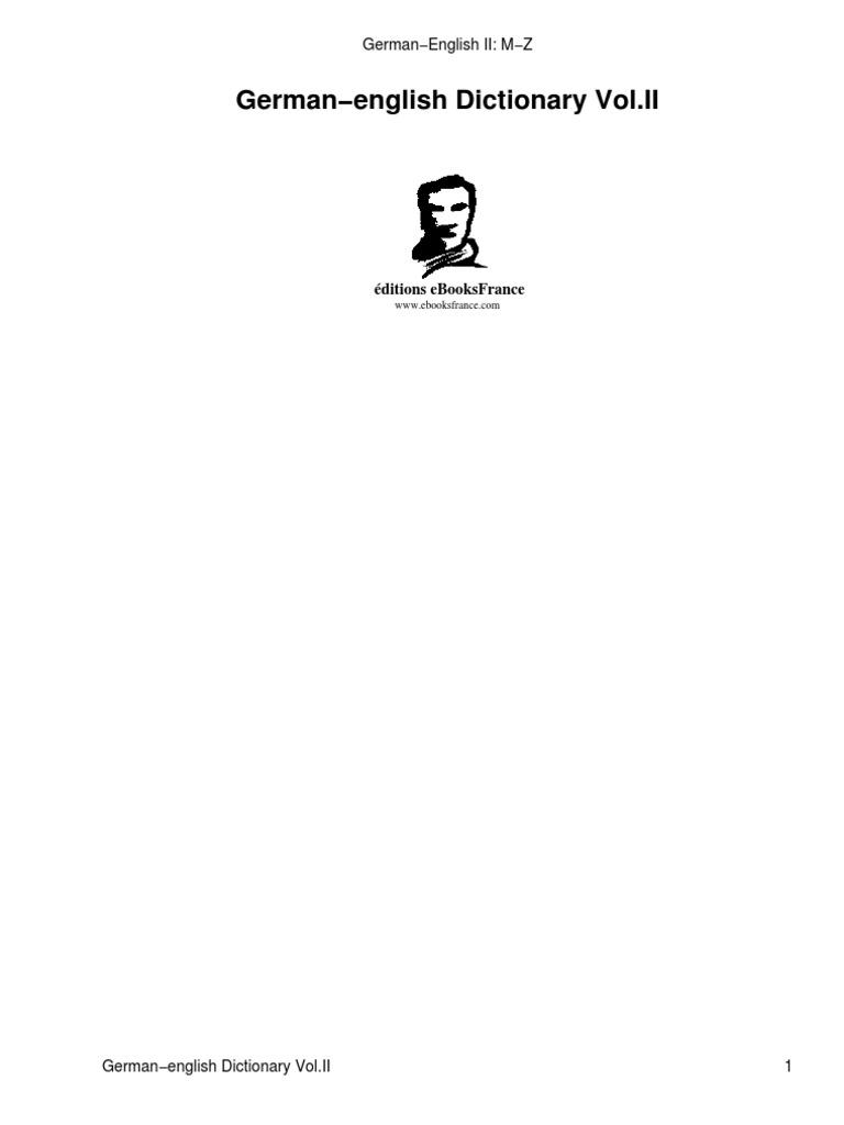 (eBook - Dic) German - English Dictionary II M-Z (81 274 Entries)