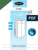 mode d emploi du climatiseur 51AKB 006G et 51AKB 008G