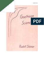 Rudolph Steiner La Ciencia de Goethe