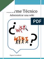 ¿Cómo puedo realizar una wiki?