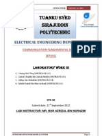 Communication system (TDM) report 3
